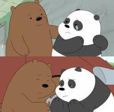 So sad & cute ❤ We Bare Bears Wallpapers, Panda Wallpapers, Cute Cartoon Wallpapers, Wallpaper Wallpapers, Bear Wallpaper, Wallpaper Iphone Cute, Disney Wallpaper, 3 Bears, Cute Bears