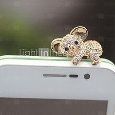 USD $ 2.99 - Rhinestone Lovely Koala 3.5mm Anti-dust Plug for iphone /Samsung(Assorted Color)