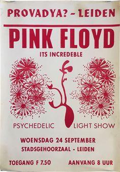 1969 Pink Floyd Original Netherlands Fillmore-Era Concert Poster