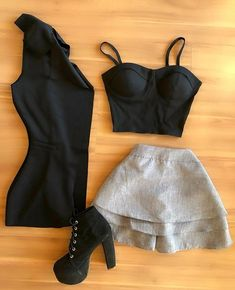 Teen Fashion Outfits, Girly Outfits, Cute Casual Outfits, Look Fashion, Sexy Outfits, Stylish Outfits, Womens Fashion, Fashion Ideas, Elegant Outfit