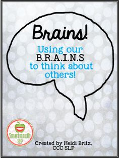 This social language freebie highlights using the acronym B.S as a social language teaching method to think about others. Included is a flip book for interview/practice, teaching cards and a poster for your classroom or therapy setting. Social Skills Activities, Teaching Social Skills, Teaching Methods, Speech Therapy Activities, Speech Language Pathology, Speech And Language, Social Communication Disorder, Counseling Quotes, Creative Writing Tips