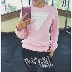 Sweet sweatshirt female 2017 autumn winter sexy long sleeve Pullovers sweatshirts fashion print without cap plus size N Girls, Gym Wear, Polish Girls, Hoodies, Sweatshirts, Fitness Fashion, Insta Pic, Sportswear, Fitness Motivation