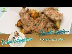 Receta de Conejo en salsa por Karlos Arguiñano - YouTube Carne, Salsa, Chicken, Meat, Youtube, Food, Crock Pot, Rabbit Recipes, Planks