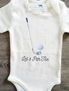 Let's ParTee, Party, Golf, Baby, Boy, Girl, Unisex, Gender Neutral, Infant, Toddler, Newborn, Organic, Bodysuit, Outfit, One Piece, Onesie®, Onsie®, Tee, Layette, Onezie®