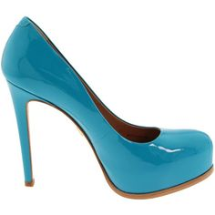 Pour La Victoire Women's Irina Platform Pump, found on polyvore.com    Fun color!