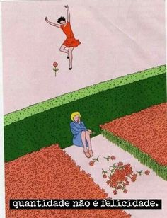 A picture is worth a million words it is said.... he it clearly shows that having plenty does not always bring happiness!