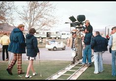 """Director Robert Redford filming the Best Picture winner """"Ordinary People"""" (1981)"""