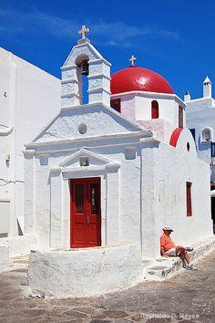 Church in Mykonos - Photograph at BetterPhoto.com Mykonos, Santorini, Crete Greece, Greek Islands, Byzantine, Taj Mahal, Buildings, Photograph, Travel