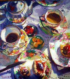 Rosemary Valadon. Tea for Two III.