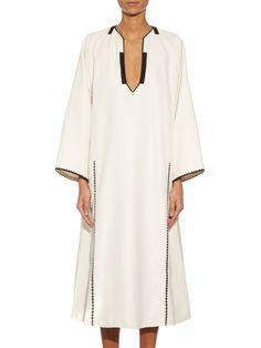 Tinos silk-taffeta embroidered trim dress   Zeus + Dione   MATCHESFASHION.COM US
