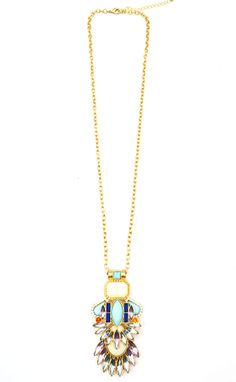 Blooms pendant necklace! https://belleboutiquenwa.com/accessories/jewelry/long-stone-pendant-necklace.html #statementnecklace #xoxoBelle #jewelry #trendy #summerapparel