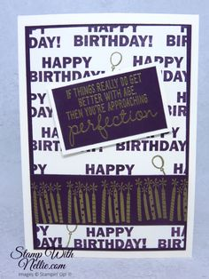 Birthday Images, Birthday Cards, Birthday Blast, Boy Cards, Wink Of Stella, Card Making Tutorials, Masculine Cards, Stamping Up, Stampin Up Cards