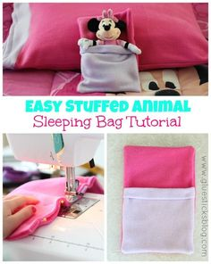 Easy Stuffed Animal Sleeping Bag: quick 10 minute project, great for beginners.
