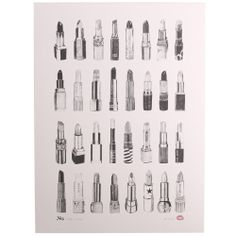Love lipsticks. Love B&W. Love posters. From Paperchase