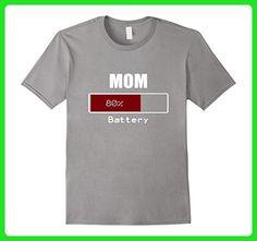 Mens Mom Battery Energy Funny Retro T-Shirt 3XL Slate - Retro shirts (*Amazon Partner-Link)