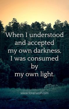 Self: Embracing Your Inner Darkness Like the yin and yang, darkness and light exist simultaneously within us.Like the yin and yang, darkness and light exist simultaneously within us. Light Of Life, Light In The Dark, Love And Light, Quotes To Live By, Me Quotes, Daily Quotes, Witch Quotes, Shadow Quotes, Encouragement