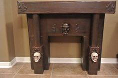 beautiful Halloween fireplace by Halloween Forum member. I believe this is made from cardboard!