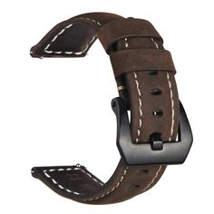 Gear S3 Frontier / Classic Watch Band,VIGOSS 22mm Premium Vintage Crazy Horse Soft Genuine Leather Strap Replacement Bracelet for Samsung Gear S3 Frontier/S3 Classic SmartWatch (Coffee)