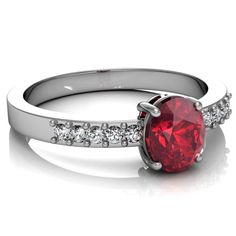 White gold ruby engagement ring round DUBCSR071 #engagement#wedding#dressjewellery#jewellery#jewelry#need#want#ring @bismijewels