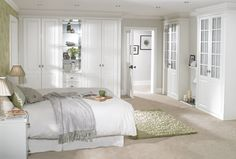 Attractive Fitted Bedrooms for Small Rooms with White Bedding.so attractive...