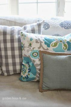 Spring throw pillows