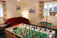 The games room, with table football and bar skittles