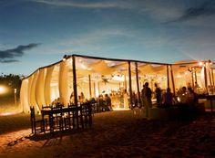 Reception: outdoor beach reception, soft lighting
