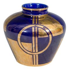 Art Deco Cobalt Blue Sevres Vase | From a unique collection of antique and modern vases at https://www.1stdibs.com/furniture/more-furniture-collectibles/vases/