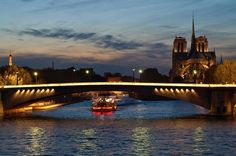 New Year's Eve Seine River Cruise with 4-Course Dinner, Wine and Entertainment Celebrate the New Year on Paris' stunning Seine River with this 2-hour dinner cruise, followed by up to two more hours of drinking and dancing while moored beneath the Eiffel Tower. Sip Champagne as you glide along Paris' UNESCO World Heritage–listed waterfront past Notre Dame Cathedral, the Louvre Museum, Place de la Concorde and other famous sights illuminated at night. Enjoy a 4-course dinner wit...