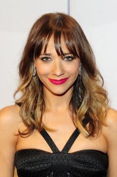Rashida Jones's hair color is the ideal mix of brunette and blonde. See more celebrity ombré styles when you click!