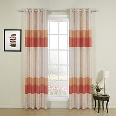 Two+Panels+Curtain+Designer+,+Stripe+Dining+Room+Poly+/+Cotton+Blend+Material+Curtains+Drapes+Home+Decoration+For+Window+–+CAD+$+68.51