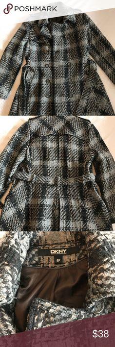 DKNY Peacoat Double breasted tweed Peacoat, petite size 8 Great condition Dkny Jackets & Coats Pea Coats