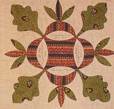 Oak Leaf and Reel detail, 1850. Chester Co, Pennsylvania - planning to use this traditional block pattern as the center of our Almost Free this Fall - one of my favorites!