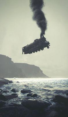 Train by Dmitry Maksimov  #Illustration #Photography #Digital_Art #Surrealism
