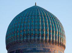 https://flic.kr/p/8G1V31 | Small dome of Khoja Ahmad Yasavi mausoleum | At the dusk  Turkistan, Kazakhstan