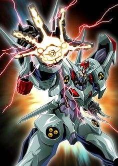 dangaioh hyper combat unit by platin (alios) Anime Alien, Mecha Anime, Art Anime, Arte Robot, Robot Art, Real Robots, Mecha Suit, Robot Illustration, Japanese Superheroes