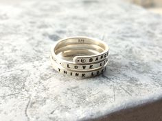Wild Woman Hand stamped Silver Quote Ring 'Dance like the Maiden, Love like the Mother, Think like the Crone' Triple Goddess Ring. by BonnyandRead on Etsy https://www.etsy.com/listing/566360949/wild-woman-hand-stamped-silver-quote