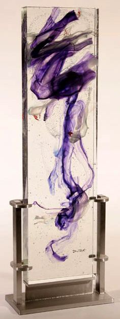 DAVID RUTH. Glass sculptures - theme: Purple
