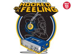 Hooked On A Feeling T-Shirt - http://teecraze.com/daily-deal-1/ - Designed by CappO #t-shirt #art #fashion