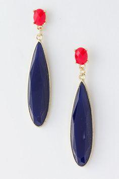 Navy Claire Earrings | Emma Stine Jewelry Earrings