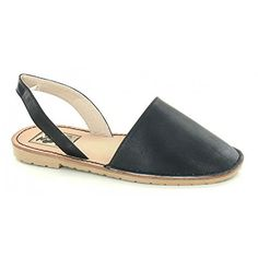 Down To Earth Womens/Ladies Closed Toe Slingback Mule Sho...