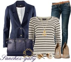 """Navy Colored Blazer"" by sanchez-gaby on Polyvore"