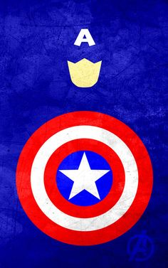 Captain America print for the boy's room