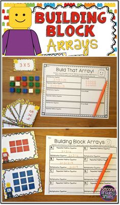 Looking for a fun way to practice multiplication with arrays? Includes two sets of task cards to practice building arrays and counting arrays to multiply with Legos! My 2nd graders love these math centers! $