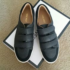 Nine West black sneakers Worn once, excellent condition. Nine West Shoes Sneakers