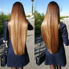 Long Dark Hair, Very Long Hair, Beautiful Long Hair, Gorgeous Hair, Pretty Hairstyles, Straight Hairstyles, Thick Hair Bob Haircut, Silk Hair, Rapunzel