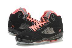 new style c8185 1b612 Air Jordan Retro 5 GS Black Alarming Red for sale  119.99 Jordan Shoes For  Women,