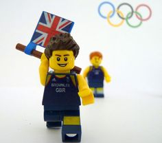 LEGO minifigs of Team GB gold medal winners at the Olympic Games.