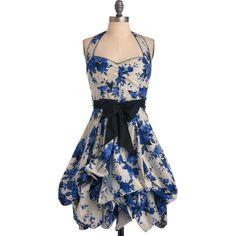Indigo Gardens Dress, found on polyvore.com