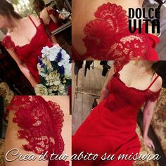 SPOSA in ROSSO Gioia a più non posso! #dolcevitaatelier #tuscanypeople #si #solotuo❤ #sienamirabellagiveaway #red #weddingdress #pizzo #conlemiemani.
